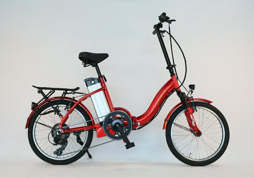 ★数量限定★36v版リチウムバッテリー搭載!折りたたみモペット版電動自転車IDATEN軽風20インチ モペット版アルミフレーム&軽量リチウムイオンバッテリー