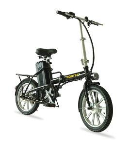 期間限定セール★36V大容量バッテリー搭載★折りたたみモペット電動自転車BONITA-16インチ、専用布カゴ付き