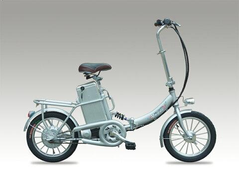 新型発売!36V大容量バッテリー搭載★折りたたみモペット電動自転車E-Bike16インチ