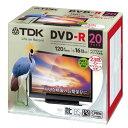 ★DR120DPWC20UE TDK 録画用DVD-R デジタル放送録画対応(CPRM) 1-16倍速 インクジェットプリンタ対応(ホワイト・ワイド) 20枚パ...