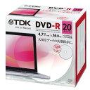 ★DR47PWC20UE TDK LoR データ用DVD-R 4.7GB 1-16倍速対応 ホワイトワイドプリンタブル 20枚パック 5mmスリムケース