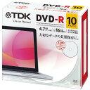 ★DR47PWC10UE TDK データ用DVD-R 4.7GB 1-16倍速対応 ホワイトワイドプリンタブル 10枚パック 5mmスリム