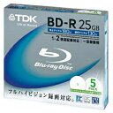 ★BRV25PWA5K TDK 録画用 BD-R Ver.1.1 1-2倍速 25GB 5枚【インク
