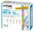 ★BRV25TB10A TDK 録画用ブルーレイディスク BD-R 1回録画用 25GB 1-4倍速 インデックス・ディスクシリーズ 10枚パック 5mmスリムケース