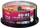 ★ BEV25PWA20PA TDK 録画用ブルーレイディスク BD-RE 25GB 1-2倍速 ホワイトワイドプリンタブル 20枚スピンドル