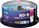 ★TDK 録画用ブルーレイディスク BD-R 1回録画用 25GB 1-4倍速 20枚スピンドル BRV25LPWB20PA