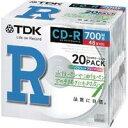 ★CD-R80PWX20A TDK データ用48倍速対応CD-R 20枚パック 700MB プリンタブル