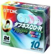 ★CD-R80TX10CCN TDK データ用32倍速対応CD-R 10枚パック 700MB カラーミックス
