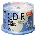 ★CD-R80PWDX50P-T TDK TANOSEE CD-R データ用 700MB
