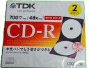 ★TDK CD-R80PWD2A-D データ用CD-R 2枚組 ホワイト