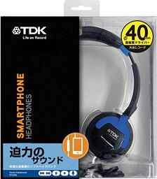 【送料無料】TDK Life on Record スマートフォン対応 リモコン付 密閉型オンイヤーヘッドホン ST260sシリーズ ブルー ST260SBL