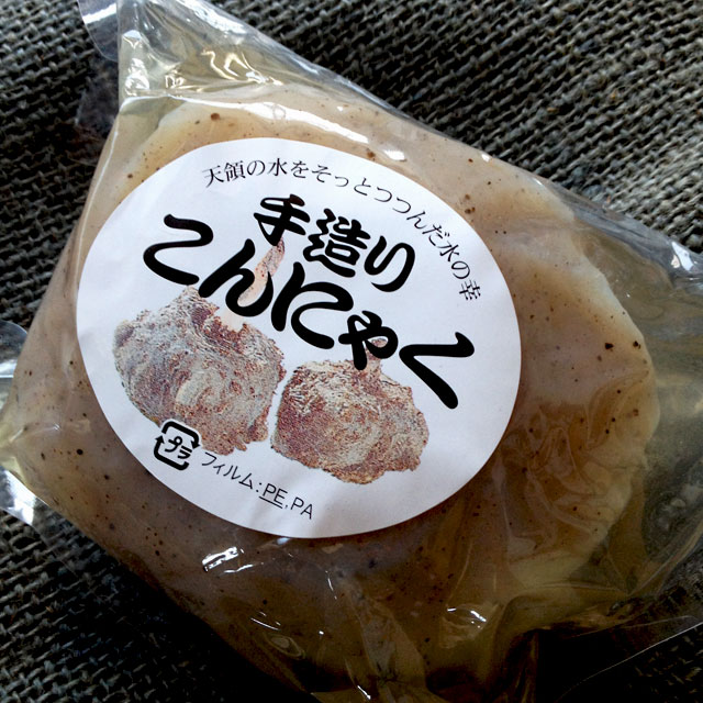Hand-made potato konjac