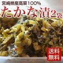 たかな漬け 2種種入 宮崎県産高菜100% メール便限定送料無料