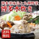 【送料無料】水炊き 鍋セット 華味鳥の手羽元2kg入のお鍋セット 九州野菜8種類+水炊き用スープ付 021016
