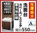 アサヒ衛陶 洗面台 カベール/スクエア 間口550mm 2枚扉 シングルレバー混合栓 LTK4550KFC7300D10 (壁給水/床排水) 洗面台/寒冷地仕様 間口550mm