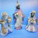 【送料無料】リヤドロ Lladro 【三賢者セット】(グレス) 01007812キリスト誕生を祝福し、駆け付けた賢者の人形 (陶器 置物)です。キリスト 宗教 クリスマス