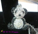 It is soothing shiningly! Panda necklace ♪ email service of the extreme popularity [immediate delivery]