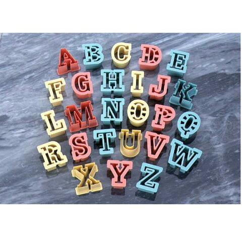 PCクッキー抜型アルファベット 26P