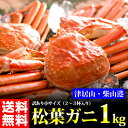 【送料無料!】【松葉ガニ】訳あり松葉ガニ(小)1kg前後(2...