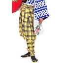 ショッピングすだれ たっつけ袴 黄 (k巴26003) 送料無料 はかま ちゃんちゃんこ 帽子 玉すだれ 舞台 ステージ 衣装 日舞 日本舞踊 踊り 大道芸 時代劇 舞台 【お取り寄せ商品】