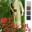 [review privilege ★ free shipping!] Gentleman ensemble ≪ one tone ≫ 2 (kimono men kimono)