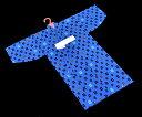 男の子 子供浴衣 1~2歳用 90サイズ -井桁模様/青系- [ 1208-1160 ] ゆかた 男児 ベビー こども キッズ 仕立てあがり 既製品 綿 めん 日本製 和柄 いげたもよう おくるみ 夏 花火 祭り