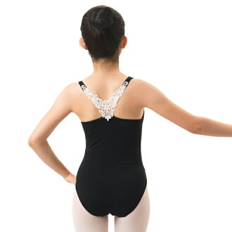 Lovely Lace motifs! Ballet practice leotards for children junior 130 / 140 / 150 / 155 / 165 cm 2 colors <r123>