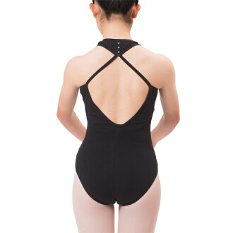 With the unique design of the back! Ballet practice leotards for children junior 140 / 150 / 155 / 165 cm [Black] <r129>