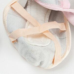 しっかりピンクの総革バレエシューズに新色が仲間入り!バレエ(ダンス)シューズ[しっかりピンク][きれいベージュ]