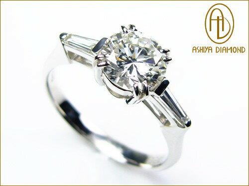 VS1-G/ダイヤモンドリング/1.0ct 0.2ctプラチナ900指輪/芦屋ダイヤモンド/P19Jul15