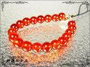 芦屋ルチル/赤メノウ(瑪瑙)天然石パワーストーンストラップ/携帯電話スマートフォン用/P19Jul15「39ショップ」
