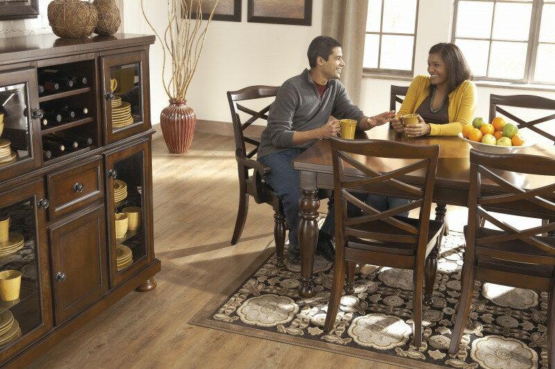 アメリカ 【アシュレイ家具】 輸入家具ASHLEY 日本唯一のオフィシャルショップダイニング5点セット アンティーク デザインD697-35-01*4 Porter