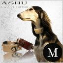 犬 首輪 ASHU ダブルバックル カラー 首輪 Mサイズ 【リードは別売り】 ハウンド系中〜大型犬用