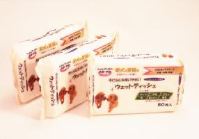 它是柔軟,絲滑柔軟! 手和指甲護理最好! 濕步行腳屋頂的濕巾 [3 包] 10P13oct13_b 狗污垢添加劑免費寵物用品狗用品狗玩具貓貓 tezukayama 山獵犬來樂天市場