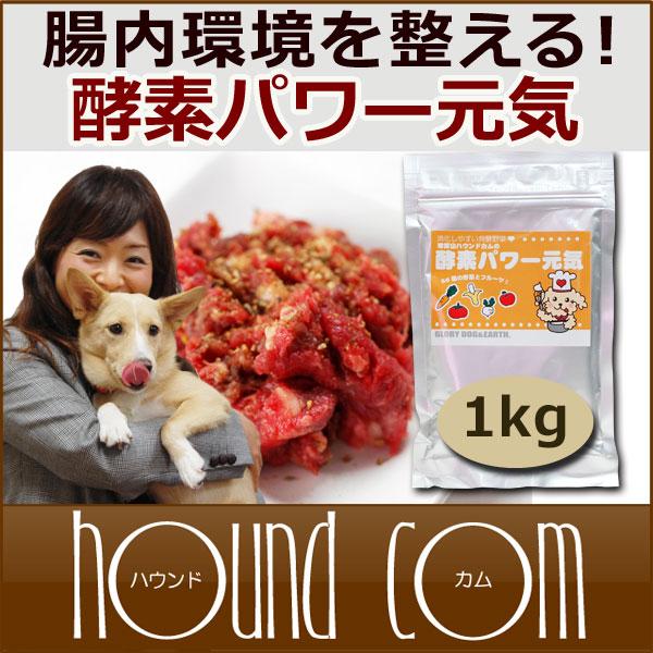 犬 酵素パワー元気 1kg ドッグフード 馬肉 生肉に混ぜて ペットの手作り食に 涙やけ …...:ashu:10002705