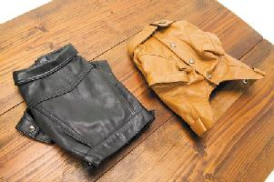 【送料無料】ASHU 革ジャケ[Sサイズ]【犬用 服 ウェア】 やわらかシープレザーの本格派ジャケット!【犬用 服 ウェア】