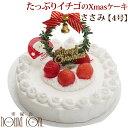【予約受付中】2020年犬 クリスマスケーキ たっぷりイチゴのクリスマスケーキ No.2 4号ささみ 予約猫 ペット用 ケーキ通販 X'masストロ..