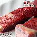 犬 馬肉 生馬肉ブロック 3kg 酵素 プロバイオティクス オメガ3補給 ペット 生肉 生食ローフードとして 中型犬 大型犬 【a0015】