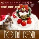【予約受付中】2017年犬用 たっぷりイチゴのクリスマスケーキ(No.2)5号馬肉ベース 予約受付中 いぬ ペット用スイーツ おやつ 手作り食トロベリー いちご 子犬 老犬 中型犬に【a0202】