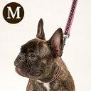 ASHU ラブリードット サイズM 全長110cm 犬用リード お散歩 中型犬、大型犬兼用