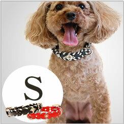 犬首輪ASHUサイドループレザーカラーSサイズいぬイヌ可愛いレザー革誕生日小型犬シーズトイプードルパ