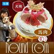 犬用 ケーキ ストロベリーJELLY ストロベリージュレ ケーキ 4号 馬肉 予約受付中 アレルギーも安心低カロリー