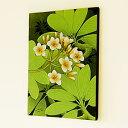 バリ島のプルメリアの花が色鮮やかなアート[10565]【 アジアンアート モダンアート アートパネル