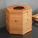 フタに穴のあいたアタ製バスケット[六角形][2006]【多角...