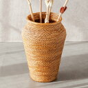 アタで編まれた花瓶型バスケット[高さ約29cm][2002]【造花 花瓶 フェイクグリーン モダン  ...
