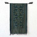 【メール便対応】バリ島の手織り高級イカット ブルー[1195...