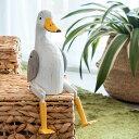 手足が動かせる木彫りのパペット人形 アヒル 11137 【バリ島のあひる アヒル だちょう インテリア置物 アジアン置き物 木彫りの動物 木製オブジェ かわいい カラフル アニマルオブジェ 動物の人形 バリ 雑貨 アジアン雑貨 アジア工房 アジアン おしゃれ】