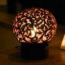 ココナッツボールランプ(ガムランモチーフ)[12731]【アジアンランプ ココナッツボール エスニック ライト ランプ 照明 おすすめ おしゃれ テーブルランプ 間接照明 バリ 癒し アジアンリゾート アジア雑貨 アジアン雑貨 新生活】