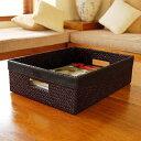 まるでレザーのような重厚感の収納ボックス。バリ島の人気アジアン雑貨