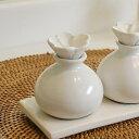 【割引クーポンあり】陶器でできた小瓶[ホワイト色][8252]【アロマオイル容器 陶器の瓶 アロマ  ...